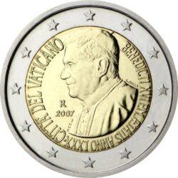 2 евро, Ватикан (80 лет Папе Римскому Бенедикта XVI)