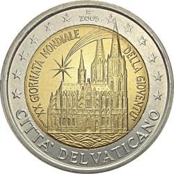 2 евро, Ватикан (XX Международный день молодёжи в Кёльне)