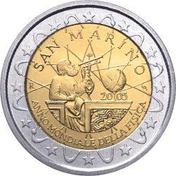 2 евро, Сан-Марино (Год физики)