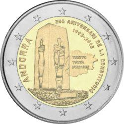 2 евро, Андорра (25-летие Конституции Андорры)