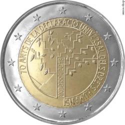 2 евро, Андорра (70-летие принятия Всеобщей декларации прав человека)