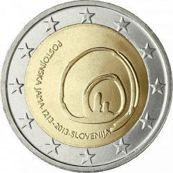 2 евро, Словения (800 лет с первого посещения пещеры Постойнска-Яма)