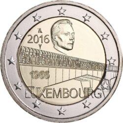 2 евро, Люксембург (50-летие моста великой герцогини Шарлотты)