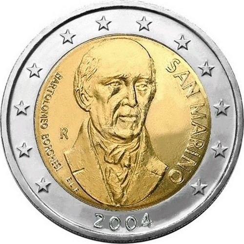 Монеты 2 евро сан марино пять р