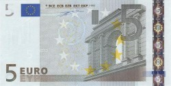 5 евро, лицевая сторона
