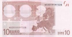 10 евро, обратная сторона