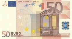 50 евро, лицевая сторона