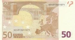 50 евро, обратная сторона