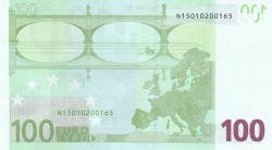 100 евро, обратная сторона