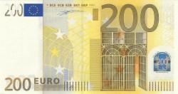 200 евро, лицевая сторона