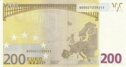 200 евро, обратная сторона