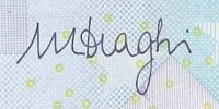 Подпись Марио Драги при обычном свете