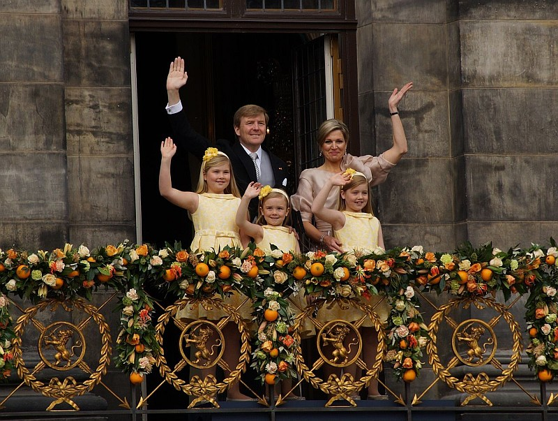 Виллем-Александр с семьёй