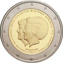 2 евро, Нидерланды (Объявление королевы Беатрикс о смене трона принцем Виллемом-Александром)