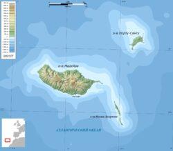 Карта архипелага Мадейра
