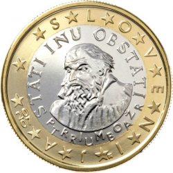 1 евро, Словения
