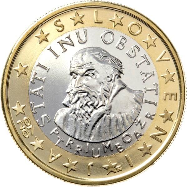 Евро словении дорогие монеты современной россии 5 рублей