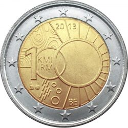 2 евро, Бельгия (100 лет Королевскому метеорологическому институту Бельгии)