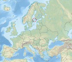 Аландские острова на карте Европы