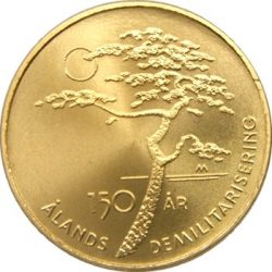 5 евро, Финляндия (150 лет демилитаризации Аландских островов)