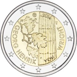 2 евро, Финляндия (100 лет со дня рождения Георга Хенрика фон Вригта)