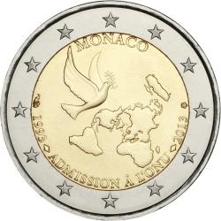 2 евро, Монако (20 лет со дня вступления Монако в ООН)