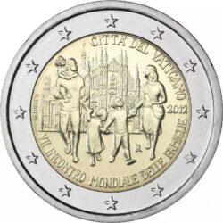 2 евро, Ватикан (VII Всемирная встреча семей в Милане)