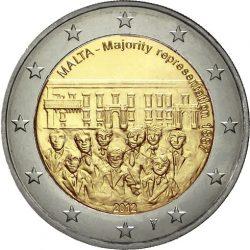 2 евро, Мальта (Совет большинства 1887 года)