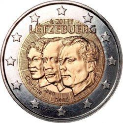 2 евро, Люксембург (50 лет назначения наследного Великого герцога Люксембурга Жана титулом «лейтенант-представитель» Великой герцогини Шарлотты)