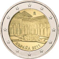 2 евро, Испания (Альгамбра, Хенералифе и Альбайсин в Гранаде)