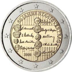 2 евро, Австрия (50 лет договору о нейтралитете)