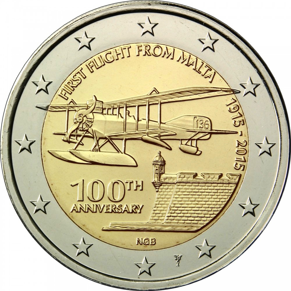 2 евро мальта 2012 со знаком монетного двора