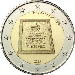 2 евро, Мальта (Республика 1974 года), аверс