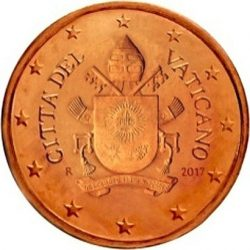 1 евроцент, Ватикан (тип 5)