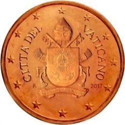 5 евроцентов, Ватикан (тип 5)