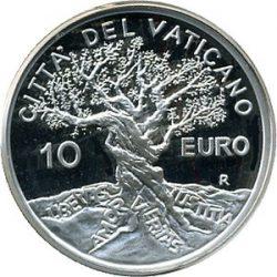 10 евро, Ватикан (Всемирный день мира)