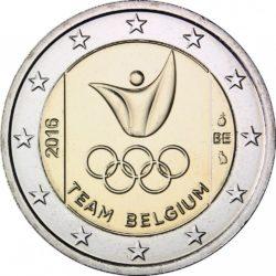 2 евро, Бельгия (Сборная Бельгии на Летних Олимпийские игры 2016 в Рио-де-Жанейро)