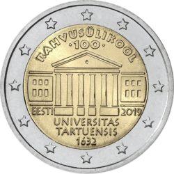 2 евро, Эстония (100-летие Тартуского университета)