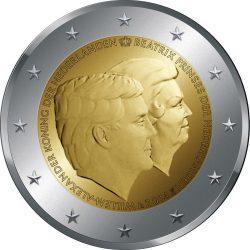 2 евро, Нидерланды (Двойной портрет: Король Виллем-Александр и принцесса Беатрикс)