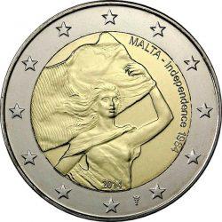 2 евро, Мальта (Независимость 1964 года)
