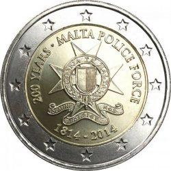 2 евро, Мальта (200 лет полиции Мальты)