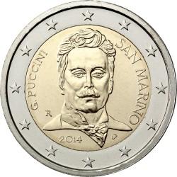 2 евро, Сан-Марино (90 лет со дня смерти Джакомо Пуччини)