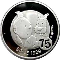 10 евро, Бельгия (75 лет героям Эрже - Тинтина и Милу)