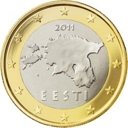 1 евро Эстонии, аверс