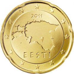 20 евроцентов Эстонии, аверс