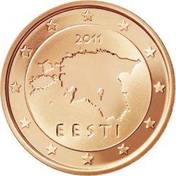 2 евроцента Эстонии, аверс