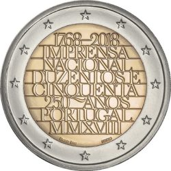 2 евро, Португалия (250-летие Imprensa Nacional)