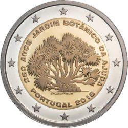 2 евро, Португалия (250-летие Ботанического сада Ажуда)