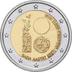 2 евро, Эстония (100 лет Эстонской Республике)