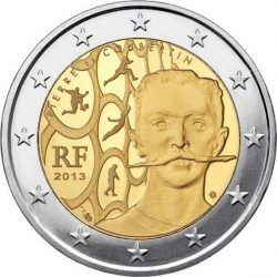 2 евро, Франция (150 лет со дня рождения Пьера де Кубертена)